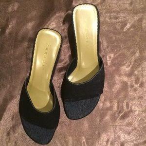Denim sandal. Never worn.